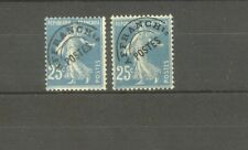 """FRANCE STAMP TIMBRE PREOBLITERES N°56+56a """"SEMEUSE 25c, 2 SURCHARGE"""" NEUFS xx TB"""