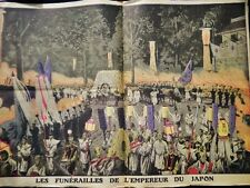 Vintage Illustration-The Emperor of Japan Funeral-Japanese History-1912