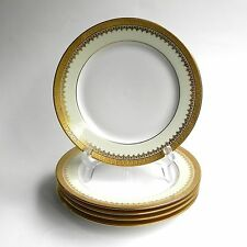 Set of 5 T&V Limoges Gold Encrusted Salad Lunch Plates David Collamore New York