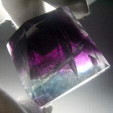 Rainbow Fluorite Crystal Pyramid Carving-flpd0111