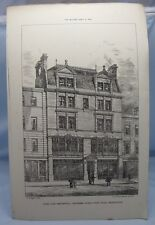 SHOPS & CHAMBERS EARLS COURT ROAD KENSINGTON Victorian Architecture Plate 1881