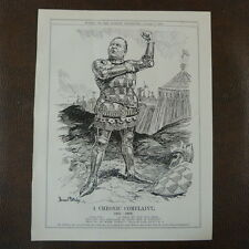 "7x10"" punch cartoon 1908 A CHRONIC COMPLAINT haldane , army reserve henry V"