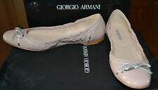 NIB GIORGIO ARMANI PATENT LEATHER FLATS SHOES  US 9 EU 39.5  MADE IN ITALY $450