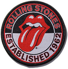 The Rolling Stones Established 1962 Logo Iron On Patch New & Official Band Merch