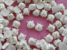 100! Cute Pearl Tulip FLower Flatback Embellishments  - 6mm/0.25""