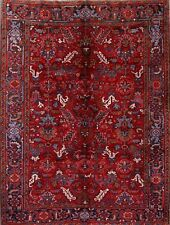 Great Condition Hand Knotted All-Over Red 7x9 Heriz Persian Oriental Area Rug