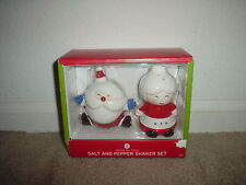 SANTA & MRS. CLAUS (CHRISTMAS CERAMIC SALT & PEPPER SHAKER SET) - NEW