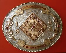 The Sagebrush Circuit Stallions of 1986 Sterling Overlay and Ruby Belt Buckle