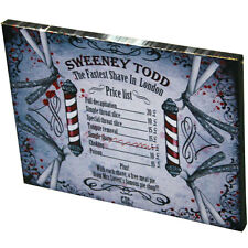BRAND NEW SWEENEY TODD CANVAS WALL PLAQUE PRICE LIST