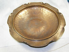 Arts and Crafts Hand Hammered Copper Bowl - Craftsman Studios Laguna Beach CA
