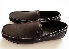 $895 BRIONI Brown Leather Shoes Loafers Moccasins Size 9 US 42 Euro 8 UK