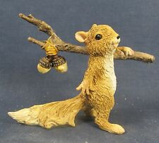 Hobo Squirrel with Acorns on a Stick Fairy Garden collectible