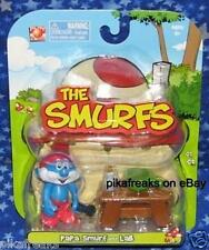 New Papa Smurf with Lab Smurfs Figure 2008 MISP Jakks USA Seller