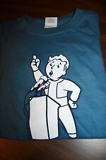 FALLOUT 3 LAUNCH MEDIA PROMO! VAULT BOY SPEECH PERK SHIRT MENS XL AUTHENTIC! 4