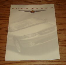 Original 1998 Chrysler Sebring Convertible Foldout Sales Brochure 98