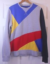 URBAN OUTFITTERS Charles And A Half Colorblock Geometric Abstract Sweatshirt L