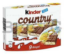 FERRERO - Kinder Country - 9 pcs - German Production