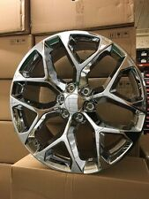 "4 NEW 2015 GMC Sierra Wheels 22x9 Chrome OE 22"" Silverado Denali Yukon Tahoe"