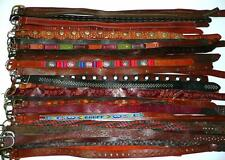 WHOLESALE Vtg & USED 50 Boho RUGGED Tooled LEATHER BELT LOT RESALE Upcycle +