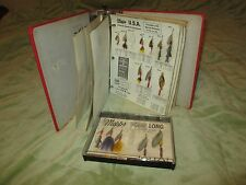 VTG Binder Mepps  STORE DISPLAY SALESMAN'S SAMPLE LURES Aglia Long Musky Killer