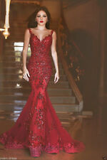Sexy Red Mermaid Pageant  Prom Dress Wedding Formal Party Dresses custom all SZ