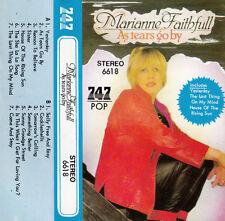 """K 7 AUDIO (TAPE)  MARIANNE FAITHFULL   """"AS TEARS GO BY"""""""
