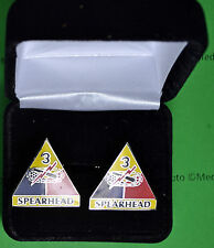 3rd Armored Division Army Cufflinks in Presentation Gift Box