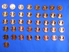 1968-S to 2016-S Gem Cameo Proof Lincoln Shield Cent Penny Set Complete 52 Coins