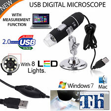 50-500X 8LED USB Microscope Endoscope  Digital Magnifier Camera Black UK Stock