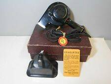 Vintage 1950's Wahl Silent Electric Hair Dryer Model G w/ Box and Mount