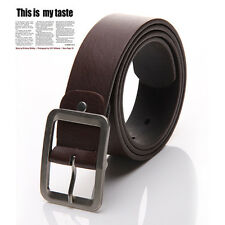 New Men's Casual Dress Faux Leather Belt Buckle Waist Strap Belts