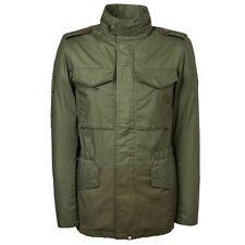 Pretty Green Men's Jetson Military Style Jacket Khaki SMALL