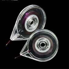 Clear Nail Art Case Striping Line Tape Box Sticker Holder Supply Easy Gift 1pc