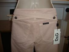 STYLISH & RARE $670 DOLCE & GABBANA PINK JEANS WITH CRISS CROSS IN BACK (NWT)