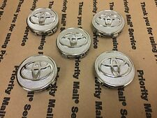 NEW TOYOTA SET OF 5 CENTER WHEEL WHEELS RIM RIMS HUB CAP CAPS  CHROME 58MM