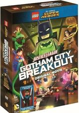 LEGO JUSTICE LEAGUE GOTHAM CITY BREAKOUT DVD WITH NIGHTWING MINIFIGURE SEALED