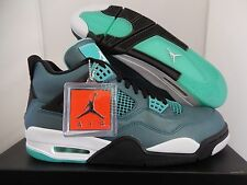 NIKE AIR JORDAN 4 RETRO 30TH TROPICAL TEAL-WHITE-BLACK-RETRO SZ 14 [705331-330]