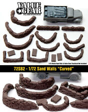 "1/72 Sand Bag Walls Set #2 ""Curved"" - Value Gear War Gaming & Dioramas"