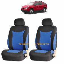 BLUE SPEED AIRBAG COMPATIBLE FRONT LOWBACK SEAT COVER SET for PONTIAC GRAND PRIX