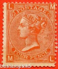 "SG. 95. J58. "" ML "". 4d Deep Vermilion. Plate 11. A fine mounted mint example."