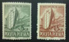 POLAND STAMPS MNH 1Fi637-38 Sc560-61 Mi775-76 - Gdansk Shipyard,1952,clean