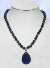 AAA 10mm Natural Egyptian Lapis Lazuli Gemstone pendant Necklace 18'' AAA