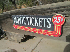 MOVIE TICKETS Fresh Buttered Popcorn Home Theatre Display Item Game Room COOL