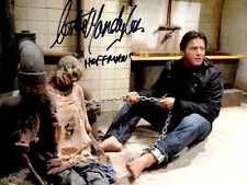 "COSTAS MANDYLOR AUTOGRAPHED ""HOFFMAN PULLING ON THE CHAIN"" SAW BATHROOM PHOTO"