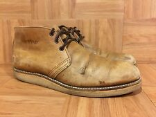 VTG�� Red Wing 595 Ankle Chukka Boot Brown Leather Made In USA 10.5 A Union Made