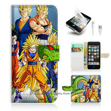 iPhone 5 5S Print Flip Wallet Case Cover! Dragon Ball P0060
