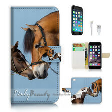 iPhone 7 (4.7') Flip Wallet Case Cover P2439 Horse Lover