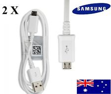2 X Original Genuine Samsung Micro USB cable for Samsung S4, S6( Micro USB )