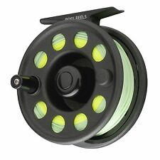 NEW $99 ROSS FLYSTART 4 FLY REEL OUTFIT BLACK #7/8 WT WITH LINE, LEADER, BACKING