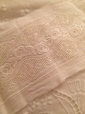 Vintage 1940 Trim Silk Embroidery Old Stock 1 Yard Excellent